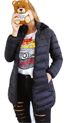 campera mujer invierno abrigada inflable pluma importada l