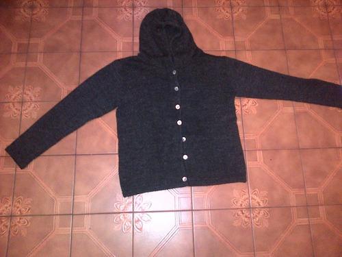campera mujer lana capucha