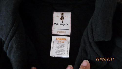 campera negra con cierre 2-3 años de usa marca gymboree