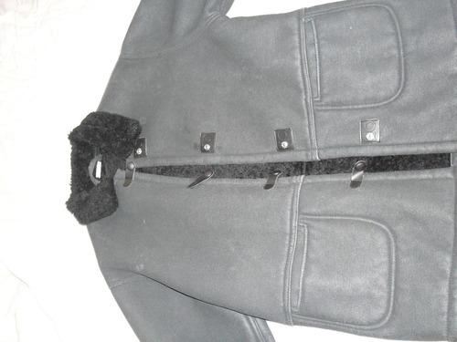 campera negra con corderito x dentro