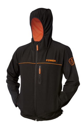 campera negra liviana power rustic scania
