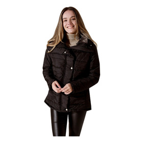 Campera Negra Rompeviento Impermeable Nueva Mujer Nofret