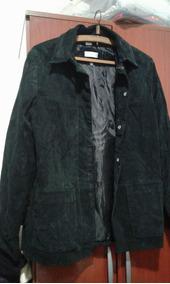Campera Negra Zara Gamuza Cuero T M