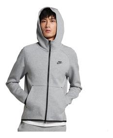 Campera Nike Tech Fleece Hoodie Fz Dk Grey Black Hombre