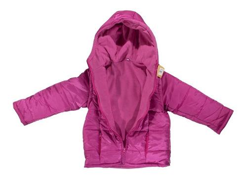 campera niña nena polar chaleco mangas desmontables 2 en 1