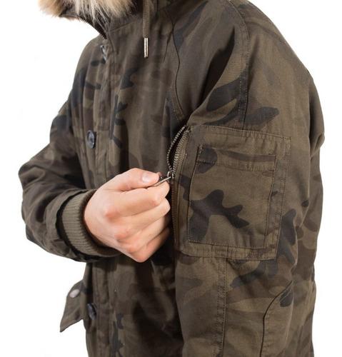 campera parka de hombre rusty selvatian militar ( talle xl )