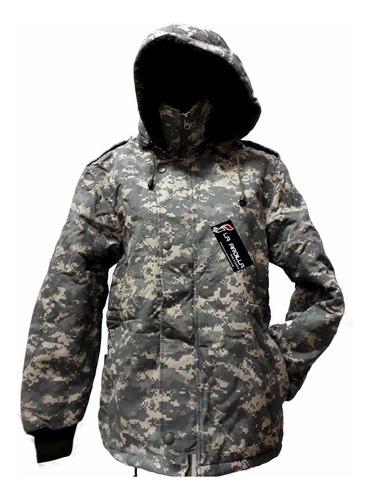 campera parka militar duvon camo digital acu  ripstop 601344