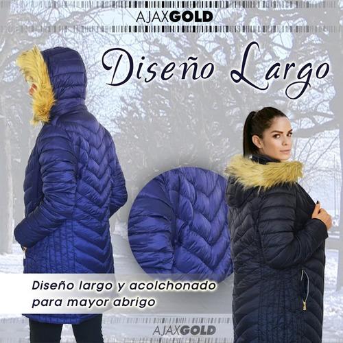 campera parka mujer camperon importada larga piel 2019