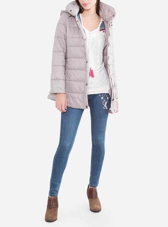 Plumas 1 199 Beige Campera Solo Mujer Parka amp;m Capucha H Nuevas qS7RxPz5