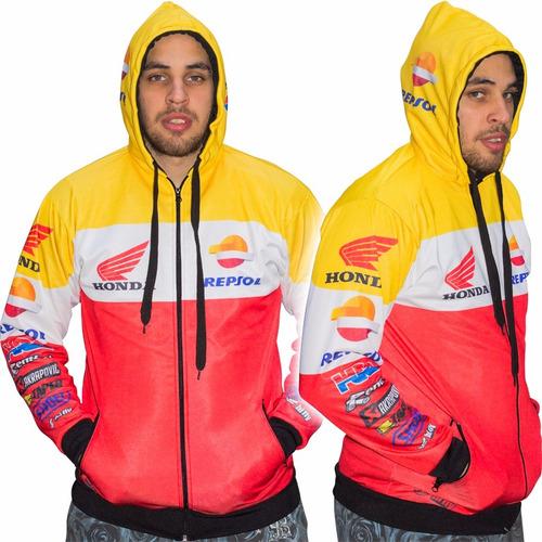 campera repsol honda friza sublimada con capucha - fas motos