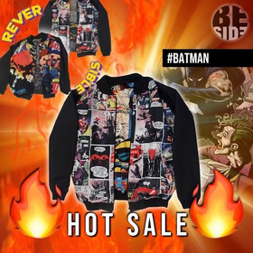 Campera Reversible Batman // Killing Joke // Dc // Comic