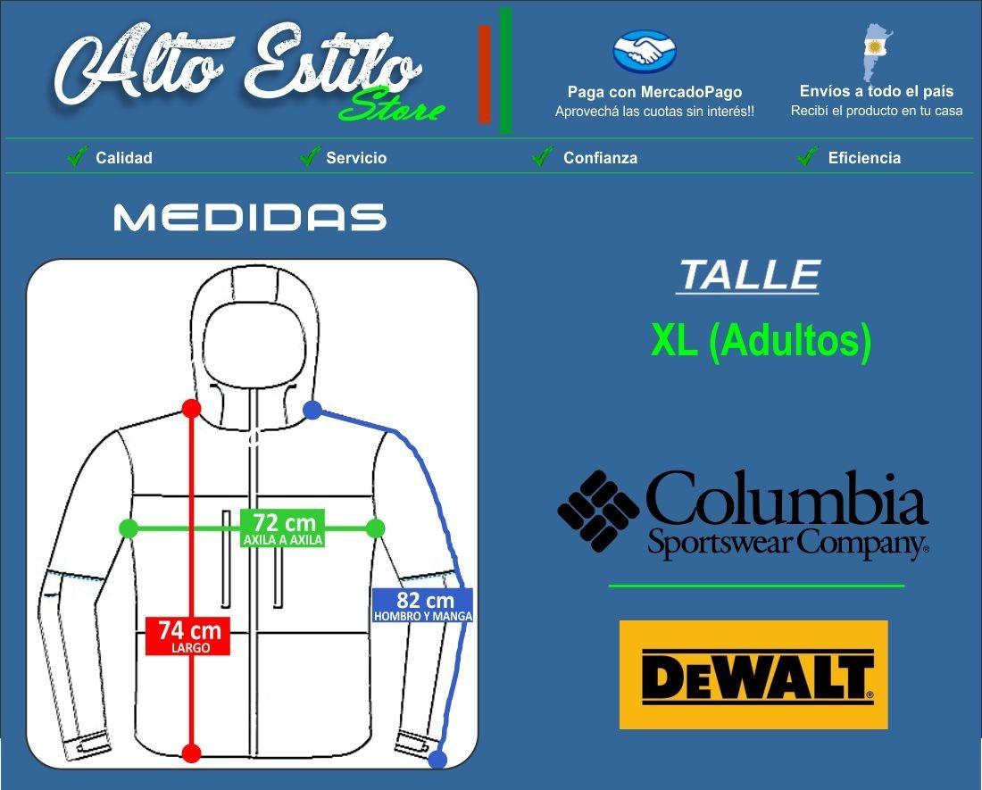 campera rompeviento marca columbia - dewalt orig talle xl. Cargando zoom. 9cea3e156b7