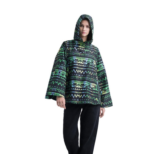 campera rompevientos herschel supply co. voyage poncho verde