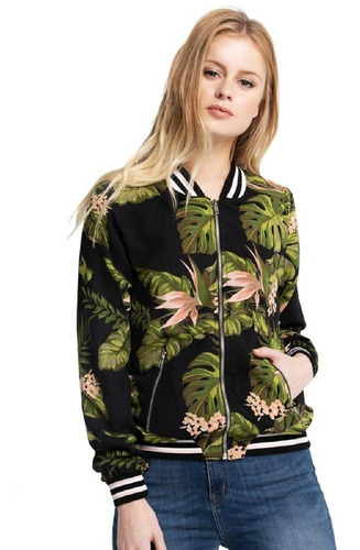 campera rusty jungalow flacket mujer estampada floreada
