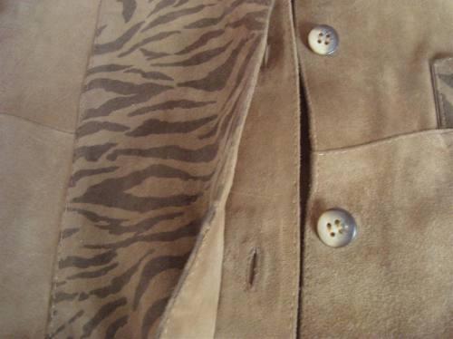 campera safari  kazarh 100% gamuza l impecable !