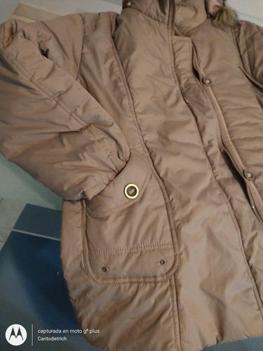 campera símil gamuza abrigo
