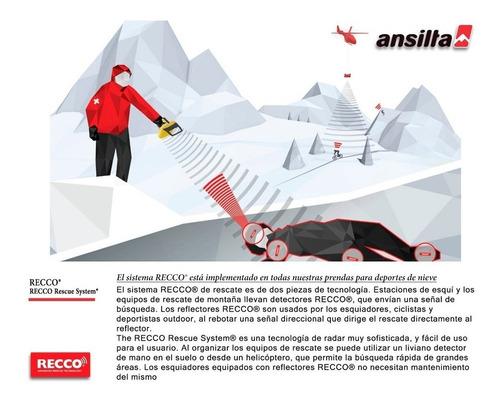 campera ski ansilta slalom 2 gore tex tecnica recco