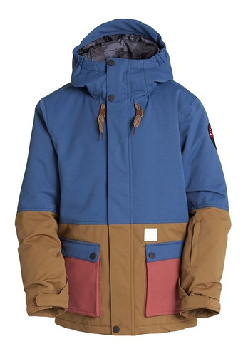 campera snowboard billabong fifty 50 boys dark denim niño