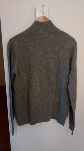 campera sweter de hilo bensimon. talle m. impecable. gris