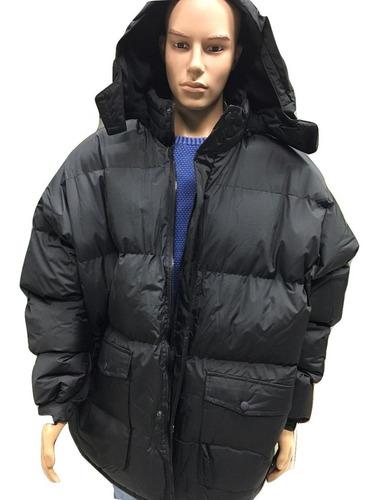 campera talle especial forrada abrigo c capucha desmontable