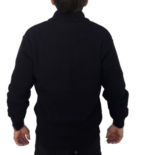 campera tejida hombre punto perlé calidad premium