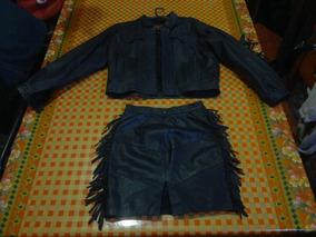 96fb5f0cd Campera Trajecito Cuero Mujer - Pollera Y Saco