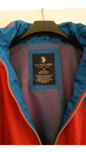 campera us polo assn impermeable con capucha.