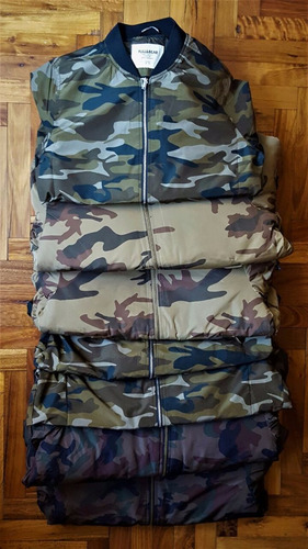 camperas camufladas importadas.marca pull and bear talle l