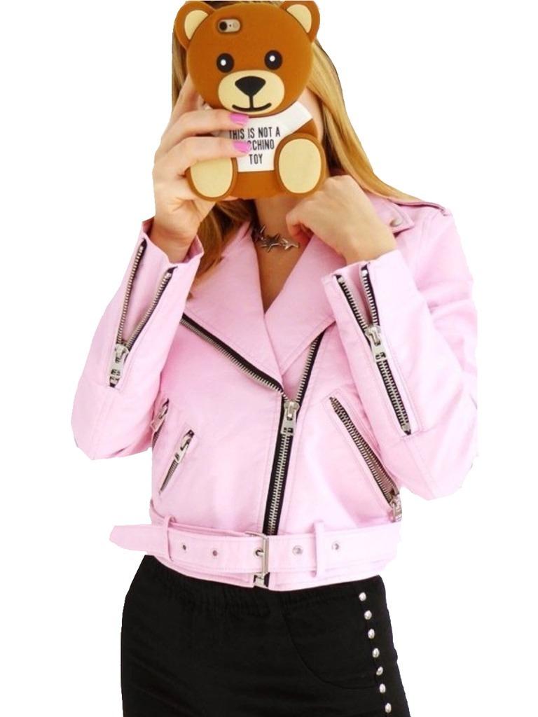 e249dd9df6a5 camperas cuero rosa mujer importada chaqueta talles. Cargando zoom.