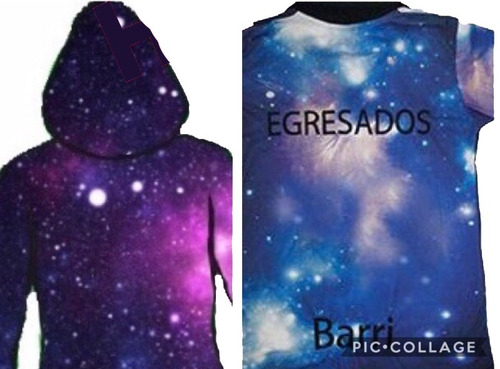 camperas de egresados en degrade/ galaxia / full print