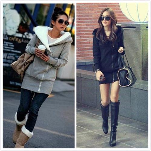 camperas hoodies mujer con corderito en la capucha!  art93