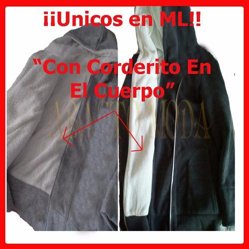 camperas hoodies mujer ¡ con corderito todo el cuerpo! art77