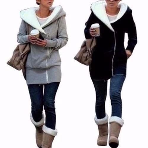 camperas mujer hoodies  con corderito en la capucha!  art93