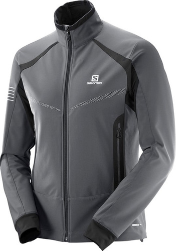 camperas salomon - trail running - rs warm softshell hombre