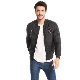 24bde6664d713 Zara Bomber Hombre Parches - Ropa y Accesorios en Mercado Libre ...