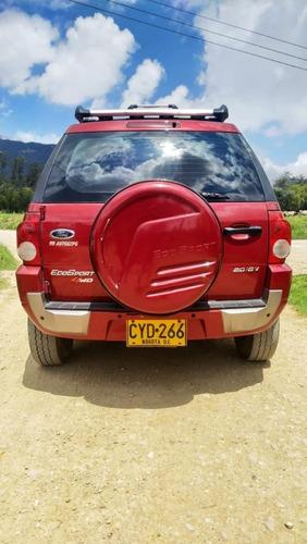 campero ford ecosport 2.0 2008 color rojo milan 4 puertas