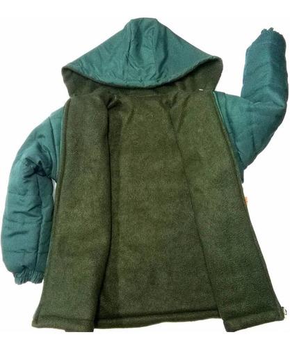 camperon colegial campera abrigo azul verde