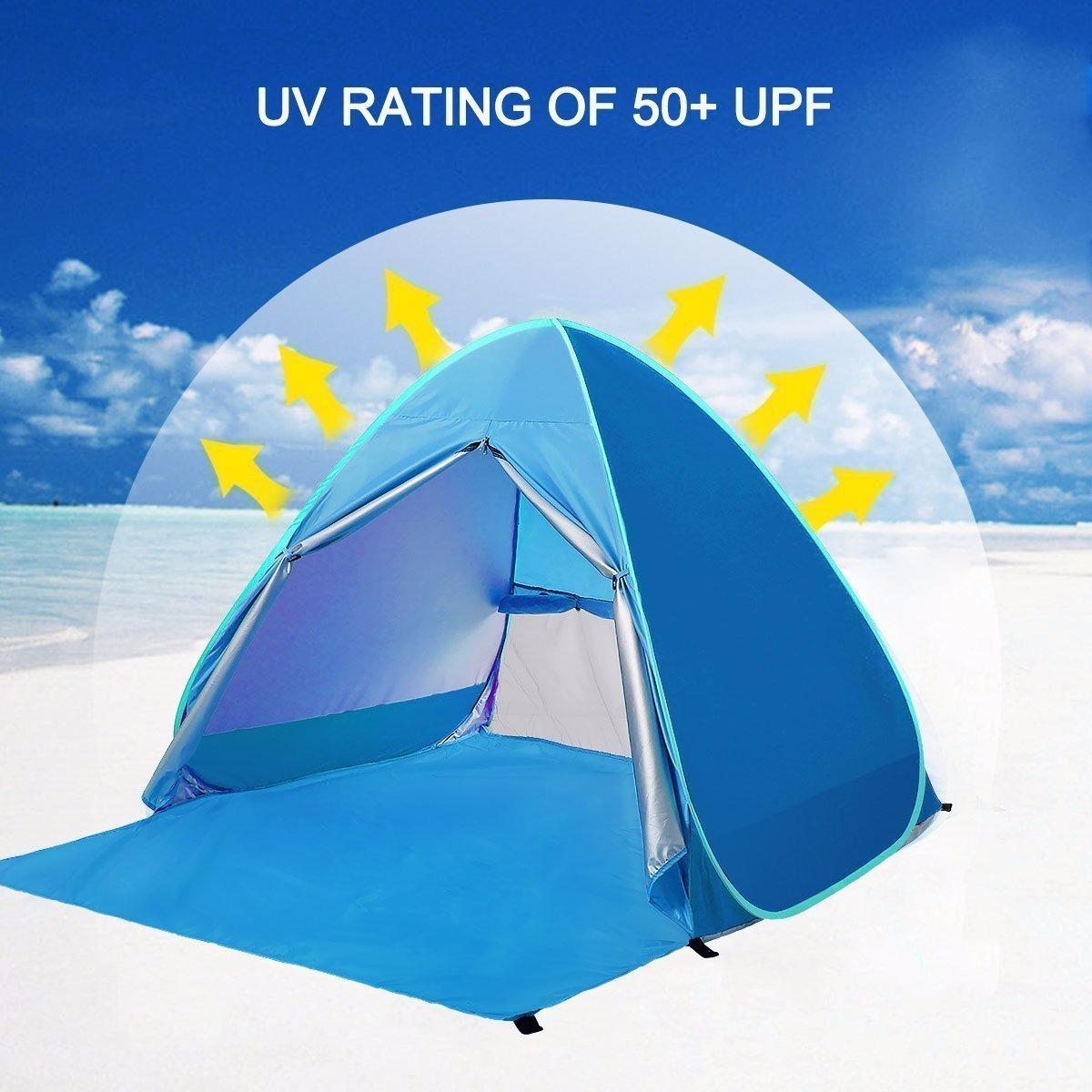 cozy fresh daa47 58d43 Camping Battop Automatic Pop Up Beach Tent Sun Shelter