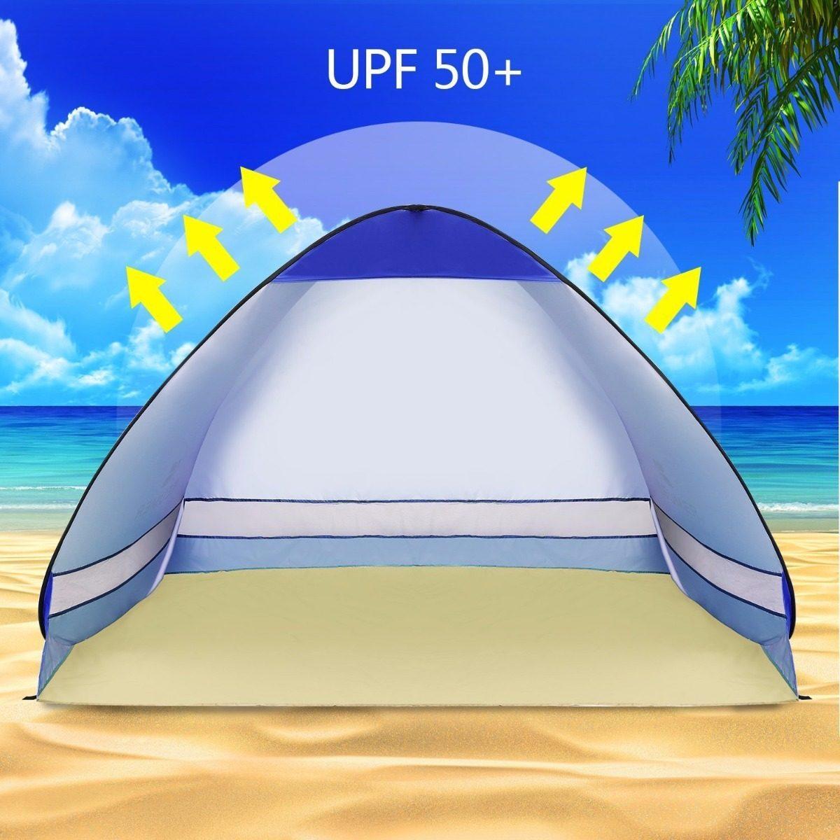 timeless design 09c92 30140 Camping Battop Pop Up Beach Tent Camping Sun Blue