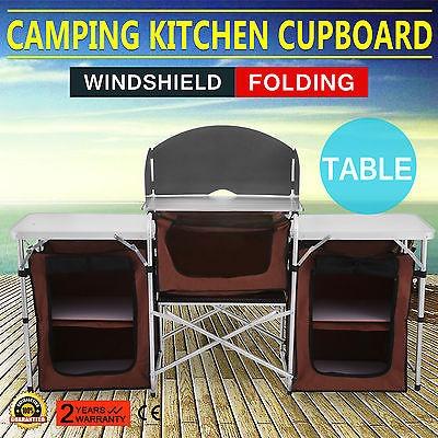 Mesa Camping Picnic Cocina Plegable Portátil Gabinete EH9e2bYWDI