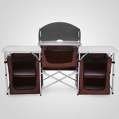 Camping Cocina Picnic Mesa Gabinete Portátil Plegable... - $ 216.990 ...