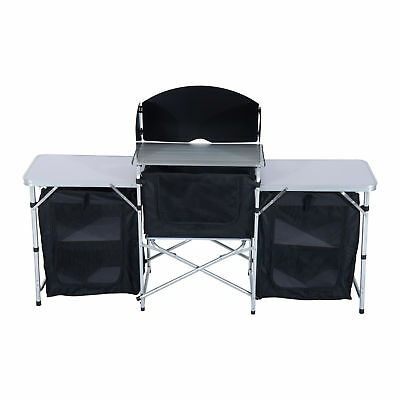 camping cocina picnic mesa gabinete portátiles plegables