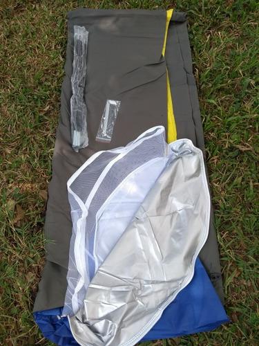 camping lona gruesa aluminio doble capa carpa 4 puestos