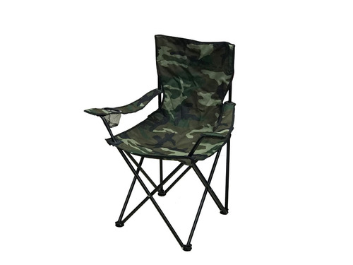camping promo catre plegable y silla diseño camuflado