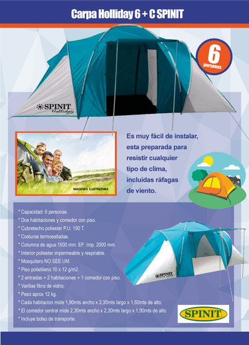 camping spinit personas carpa iglu
