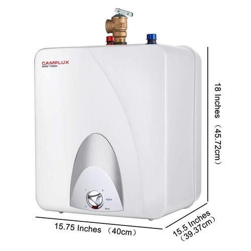 camplux - calentador de agua eléctrico con tanque pequeño d