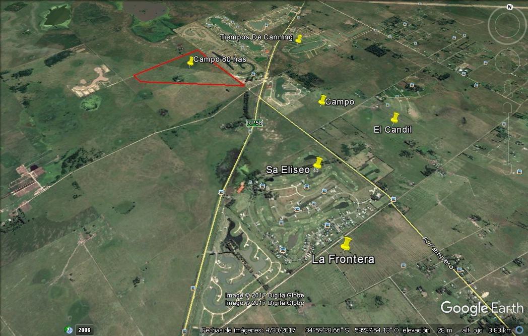 campo 80 hectareas en venta