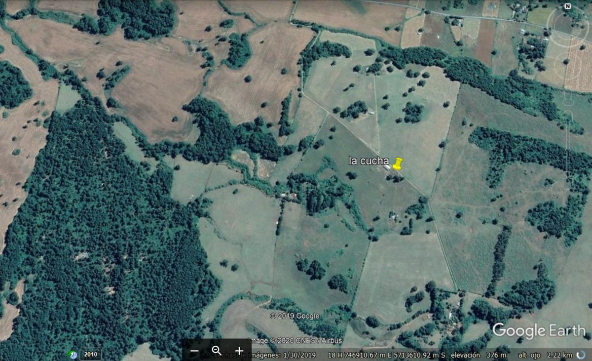 campo a 6 km de vilcún con dos casas y galpón 50 hectareas