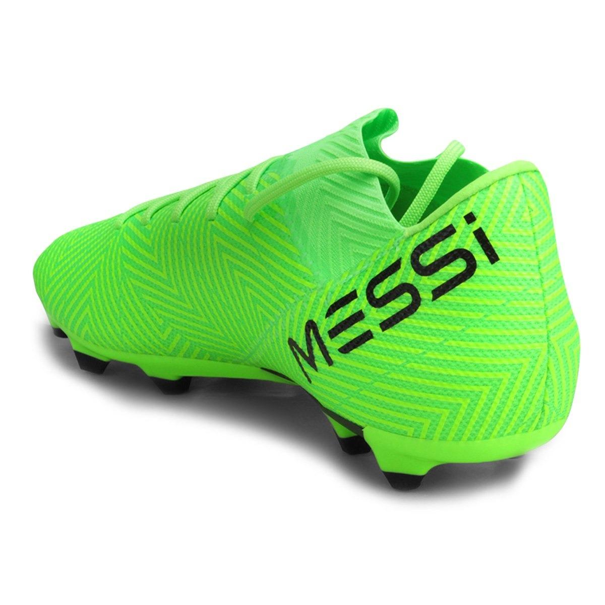 aac779c6a722d Chuteira Campo adidas Nemeziz Messi 18 3 Fg Masculina - Verd - R ...