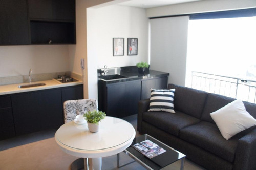 campo belo mobiliado - ar condicionado - maravilhoso studio  35 m2 - 1 vaga - more no melhor do campo belo - st0035